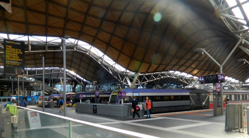 Trains at Southern Cross Station