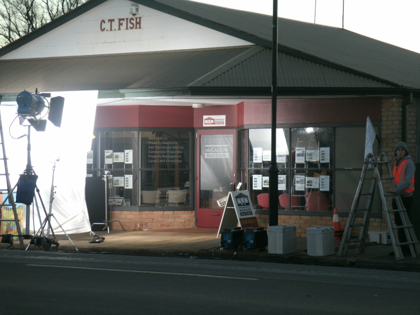 C T Fish building as real estate office
