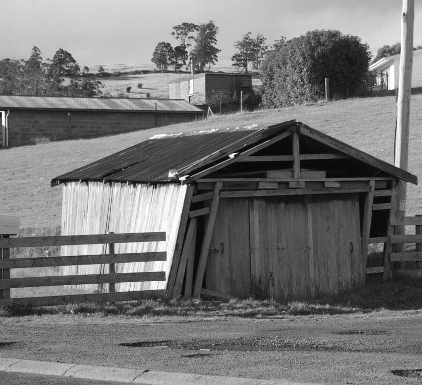 tumbledown shed
