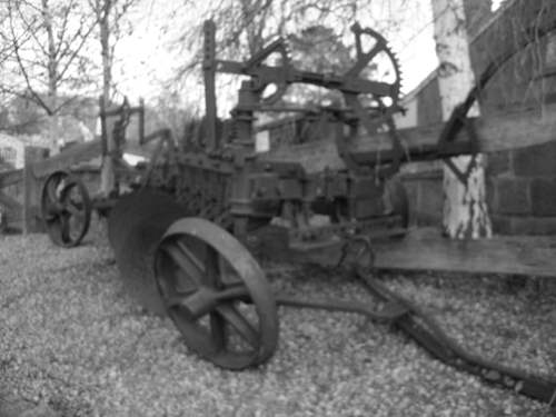 Wheels on old machinary