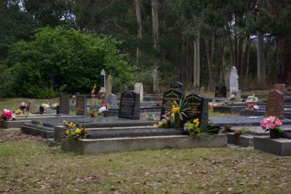 Well tended graves.