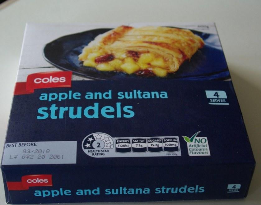 Frozen apple strudel