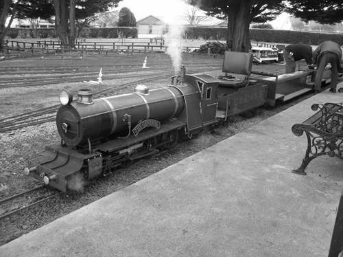 "This is a model engine ""The General"" at Evandale"