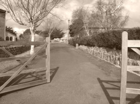 Pedestrian walkway leading to the Callington Mill Oatlands
