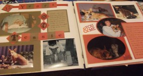 Scrapbook page about Tessie
