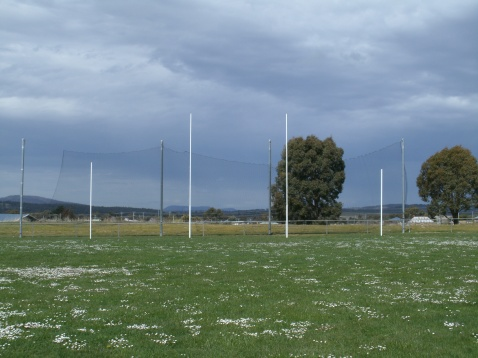 Goal posts at the footy oval in Oatlands