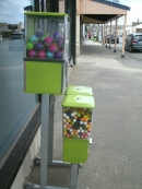 The gumball machine outside the Roxy Supermarket