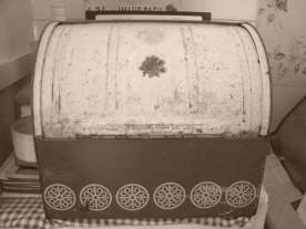 An old seventies bread bin. This was Mum's.