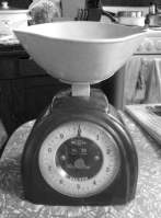 Mum's old scales. She bought these back in the sixties.