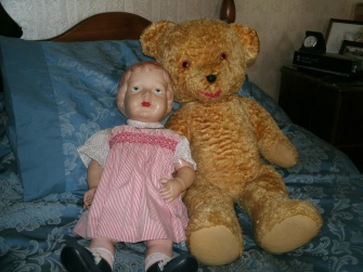 Princess doll with my teddy bear