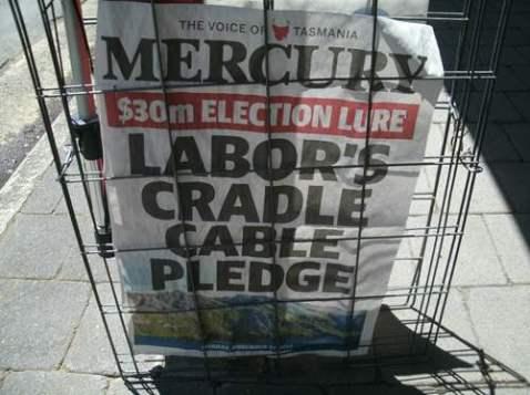 The Merc is Tassie's Newspaper. photo by Naomi