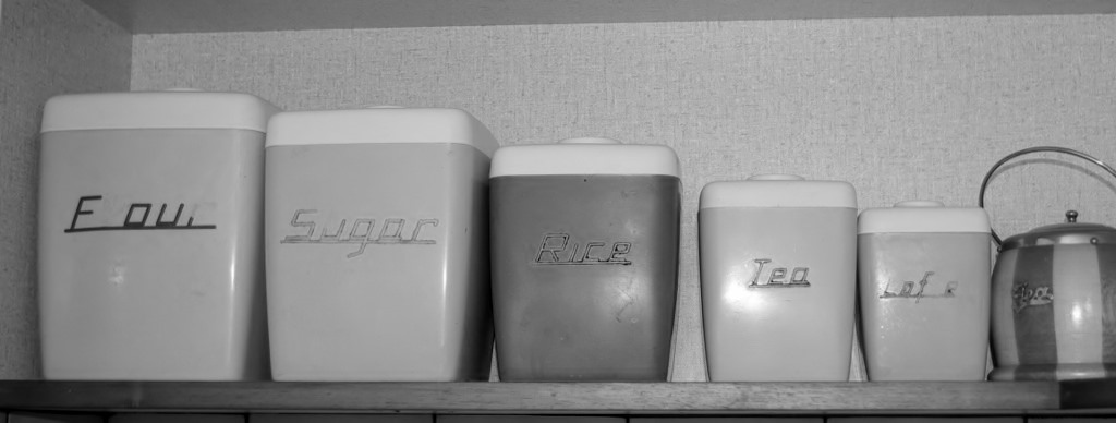 Cee's Black & White Photo Challenge: Things  Found in the Kitchen