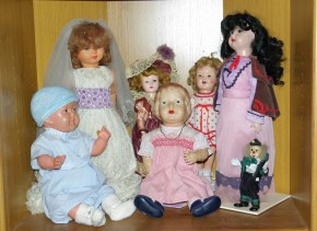 Two new celluloid dolls. John who is made in Japan and Princess Elizabeth by Palitoy UK. Both from the 1930s.