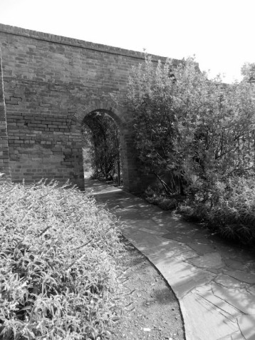 Arch in an old wall, Botanical Gardens Hobart.