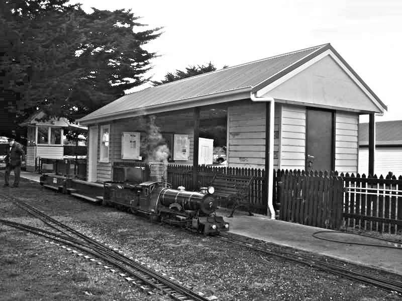 Model Train in Station