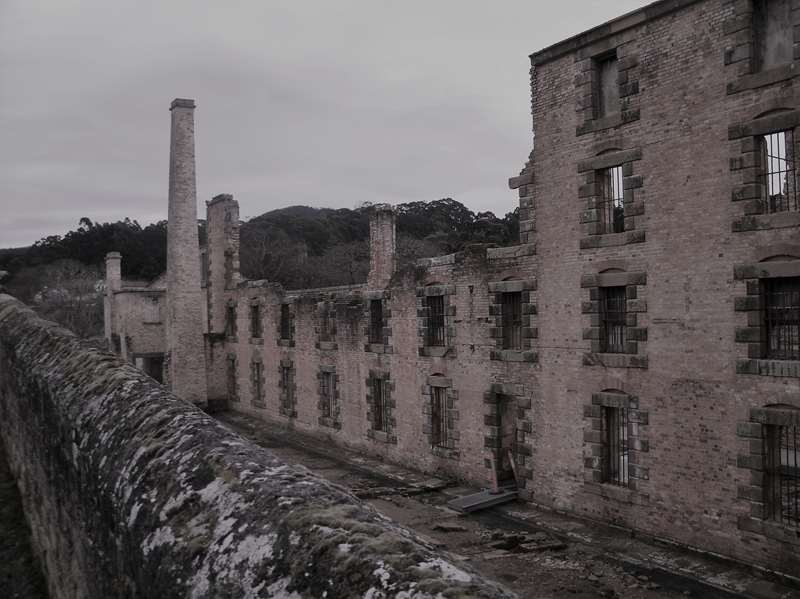 Ruined jail walls at Port Arthur