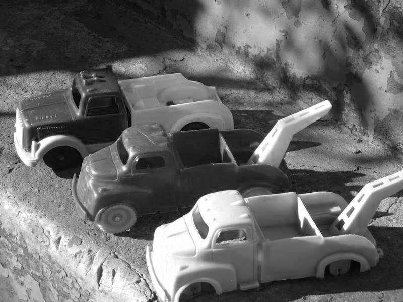 Vintage Plastic Toy Trucks