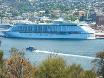 Voyager of the Seas taken from Rosny Hill , Hobart