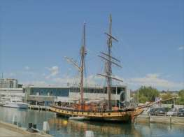 Windjammer at Hobart Dock