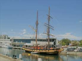 Windjammer at Hobart Dock