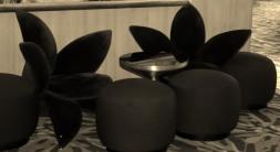 Lotus shaped chairs.