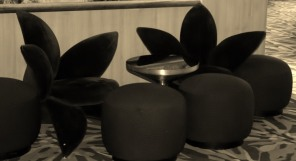 Lotus shaped chairs.