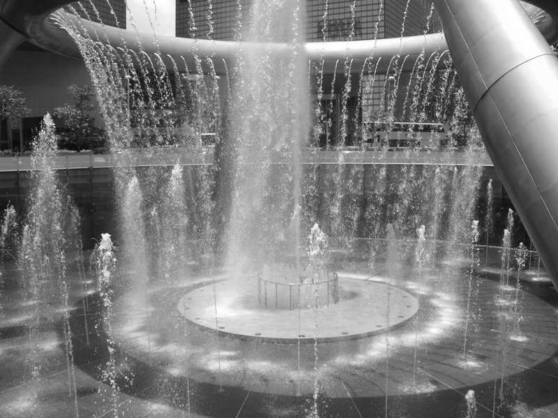 Cee's Black & White Photo Challenge:Fountains and Sprinklers