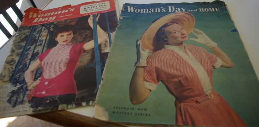 old women's magazines circa 1950s