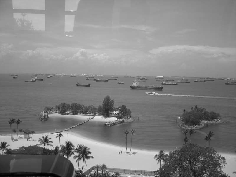 Veiw from the Cables Cars on Sentosa Island