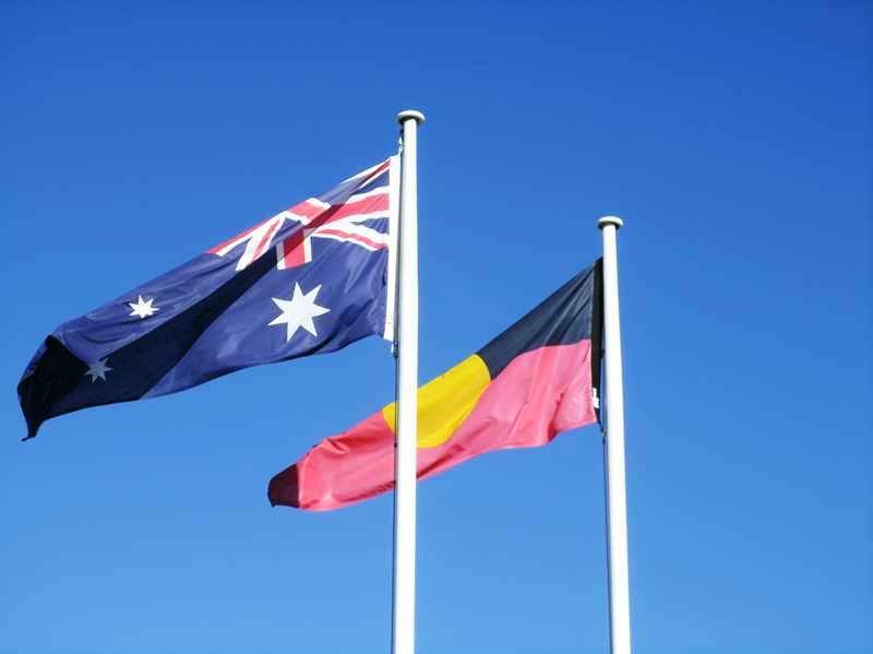 Aussie and Aboriginal Flags