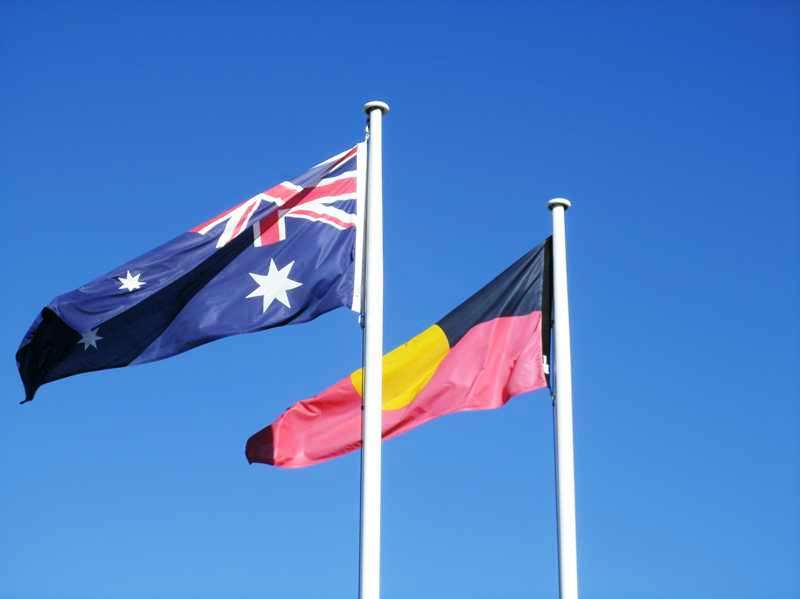 Aussie and Aboriginal Flags
