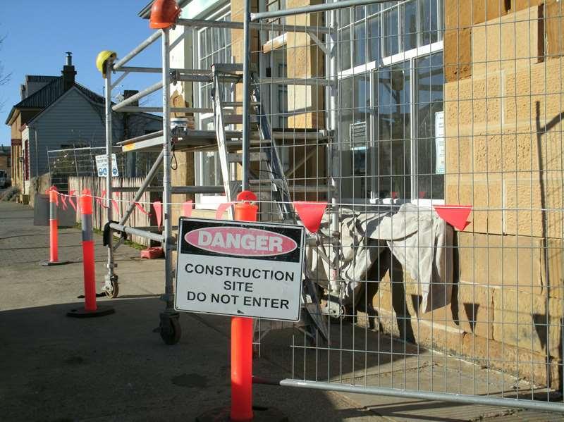 Construction Site Flags