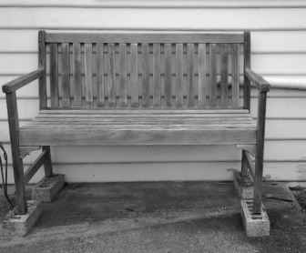 This bench was where David liked to sit.
