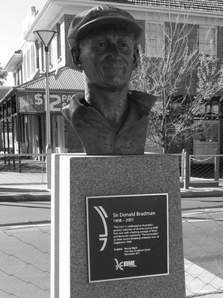 Bust of Donald Bradman in Sunbury, Victoria