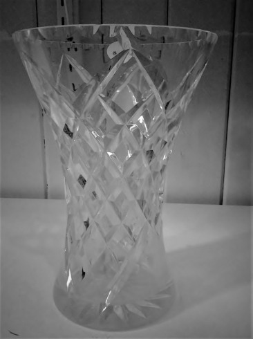 Glass vase at the Op Shop