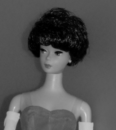 "A reproduction Barbie with ""Bubblecut"" hairstyle."