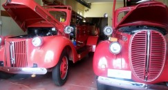 Two old fire engines.