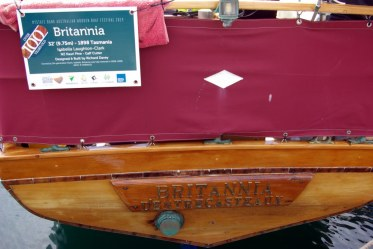 Brittania one of the older boats I saw.
