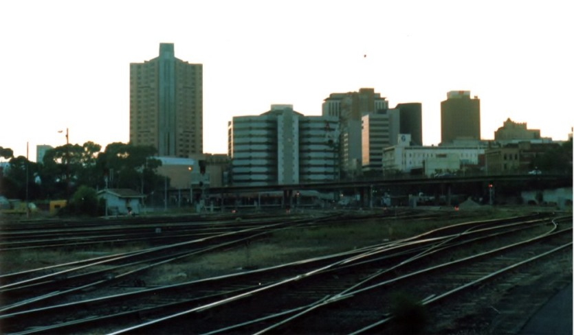 Looking back towards Adelaide from the yard. circa 1987-90