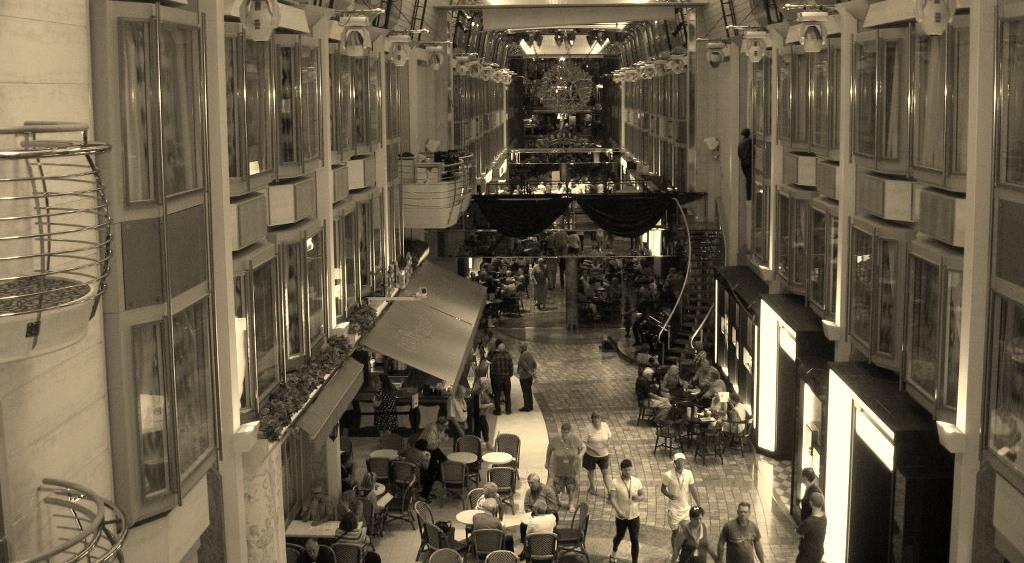 Cee's Black & White Photo Challenge: Indoor Walkways, Hallways, Elevators,