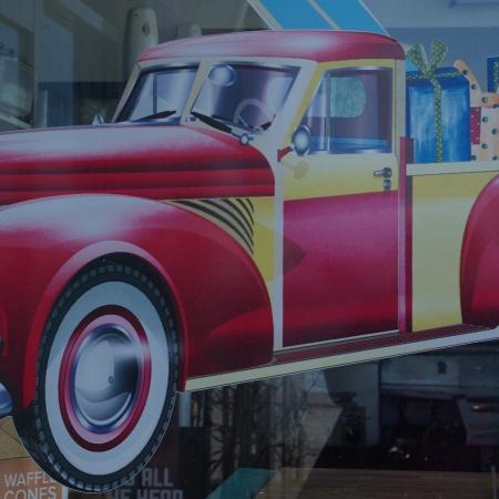 mural of a car