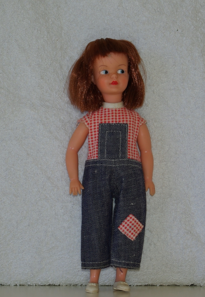 Patch doll in Dungarees